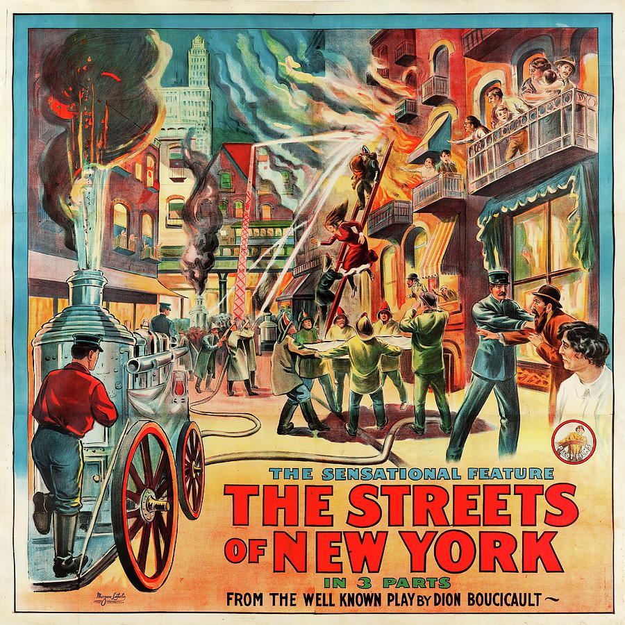 the Streets Of New York - 1922 Mixed Media