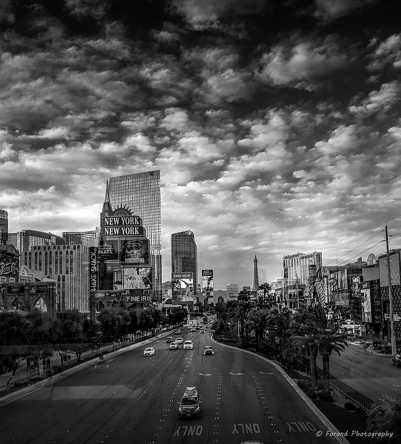The Strip Bw Photograph