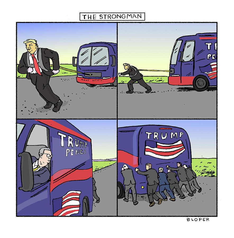 The Strongman Drawing by Brendan Loper
