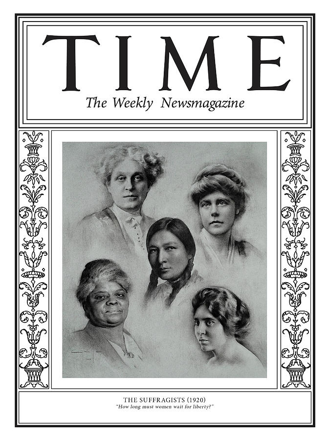 Time Photograph - The Suffragists, 1920 by Illustration by Amaya Gurpide for TIME