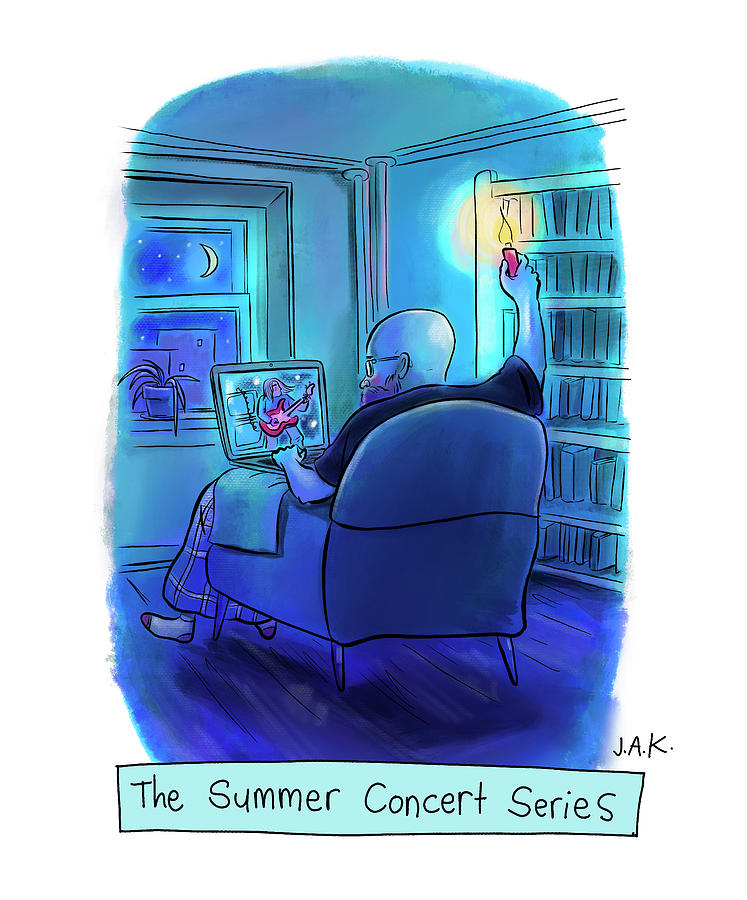 The Summer Concert Series Drawing by Jason Adam Katzenstein