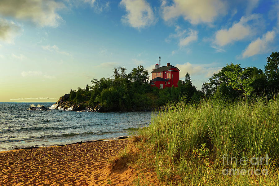 Marquette Harbor Lighthouse Photograph - The Sun Shines Bright by Jane Tomlin