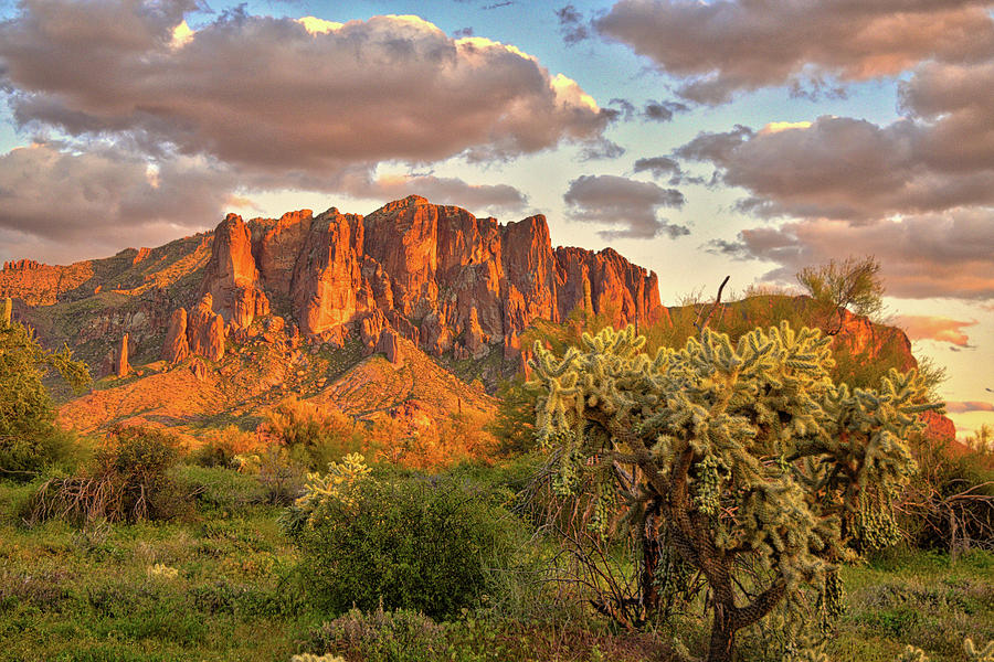 The Superstition Mountains Photograph
