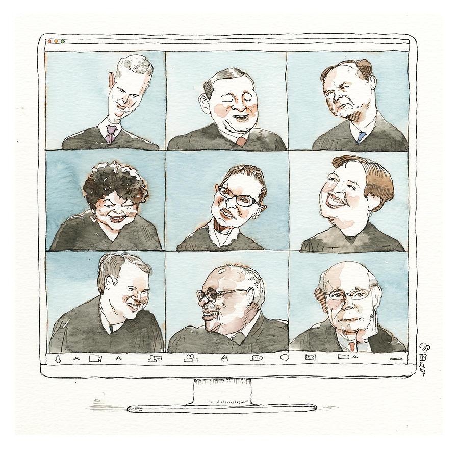 The Supreme Bunch Drawing by Barry Blitt