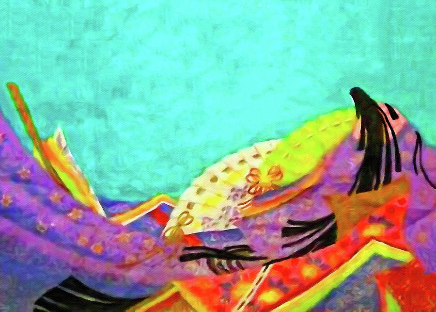 Japanese Digital Art - The Tale of Kaguya-Hime by Susan Maxwell Schmidt