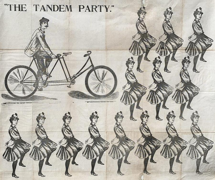 The Tandem Party A Rare And Appealingly Surreal Party Game 1873 Painting