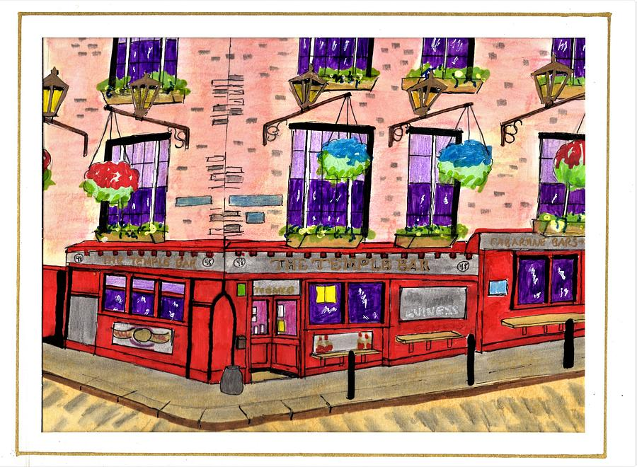The Temple Bar - Ireland Drawing