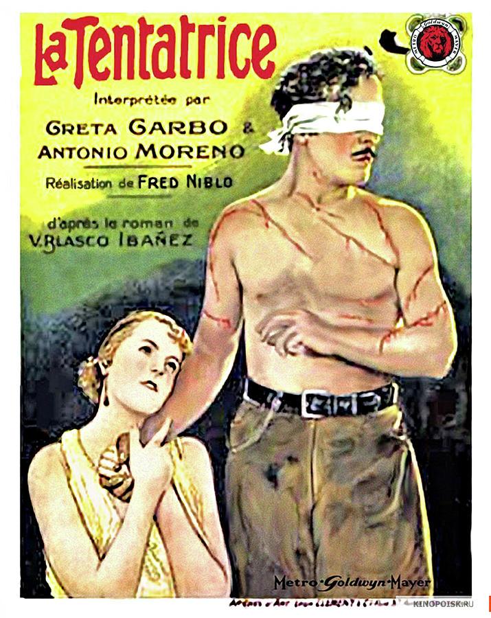 the Temptress Movie Poster 1926 Mixed Media