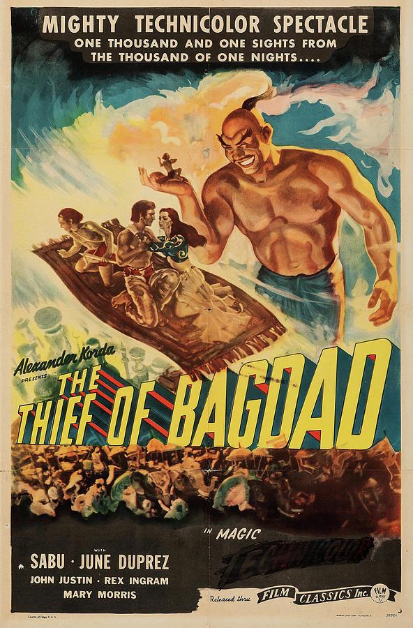 the Thief Of Bagdad 1947 Mixed Media