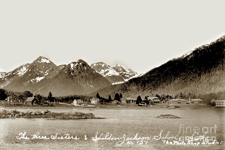 The Three Sisters and Sheldon Jackson School Sitka, Alaska by California Views Archives Mr Pat Hathaway Archives