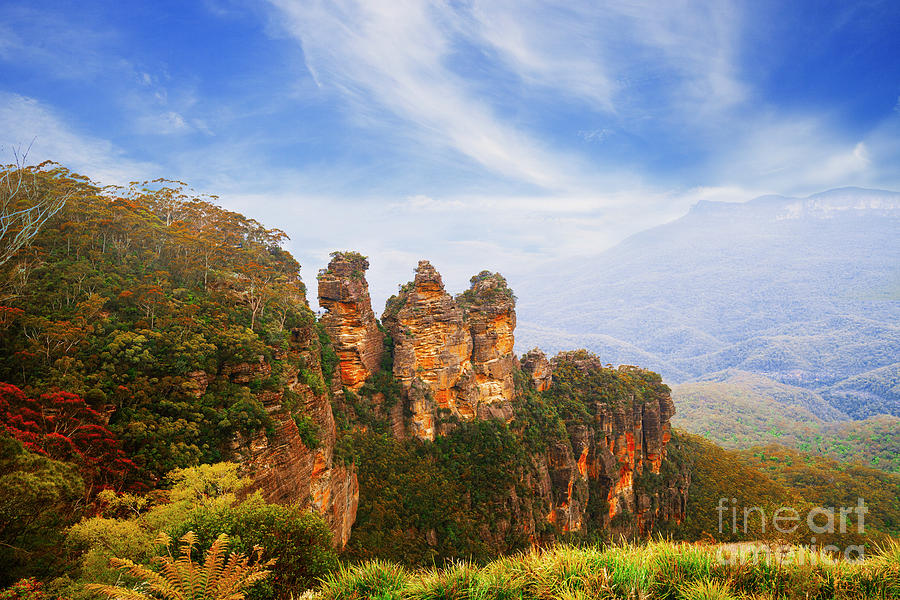 The Three Sisters in Blue Mountains, Australia by Stella Levi