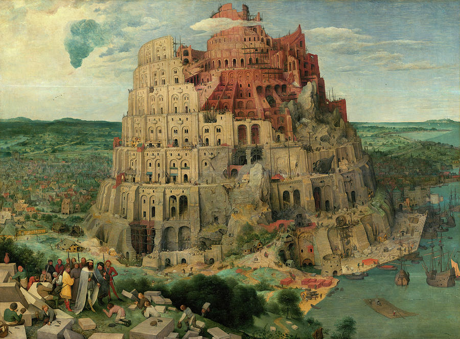 Pieter Bruegel The Elder Painting - The Tower of Babel, 1563 by Pieter Bruegel the Elder