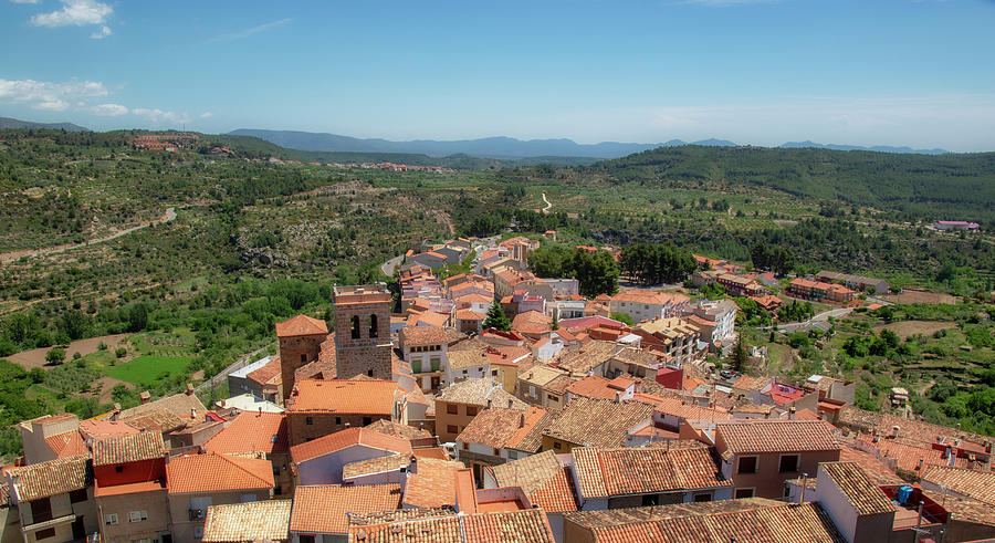 Sky Photograph - The Town Of Bejis In Castellon by Vicen Photography