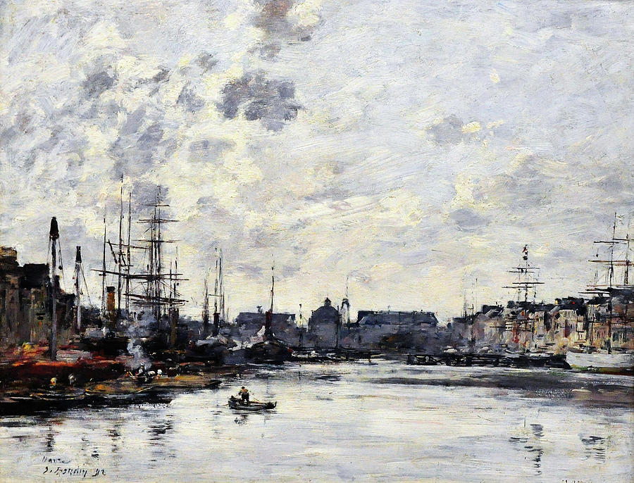 Eugene Louis Boudin Painting - The Trade Basin - Digital Remastered Edition by Eugene Louis Boudin
