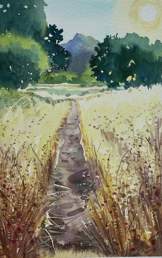 The Trail To Malibu Creek Painting