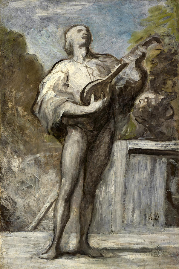 The Troubadour by Honore Daumier