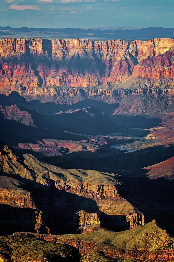 Arizona Photograph - The Unkar and The Palisades by Jack and Darnell Est