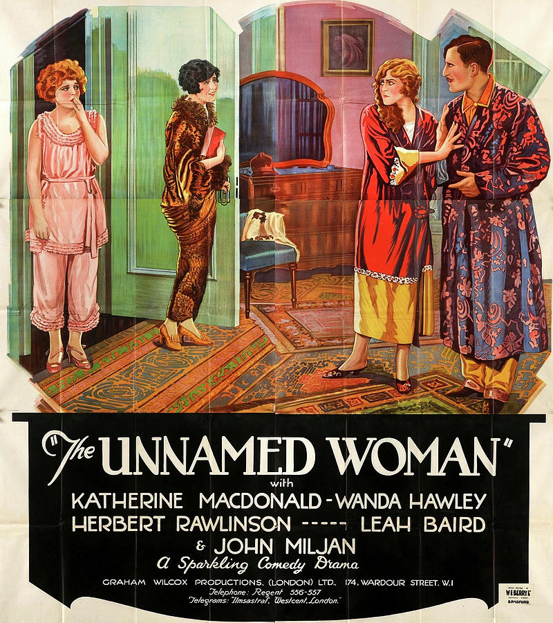 the Unnamed Woman Movie Poster  1925 Mixed Media