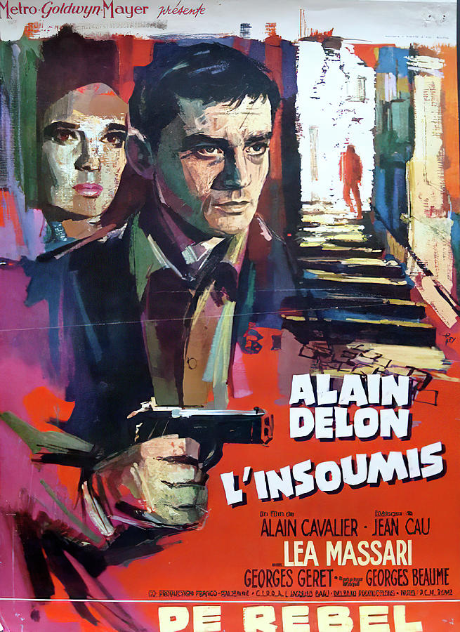 the Unvanquished, With Alanin Delon, 1964 Mixed Media