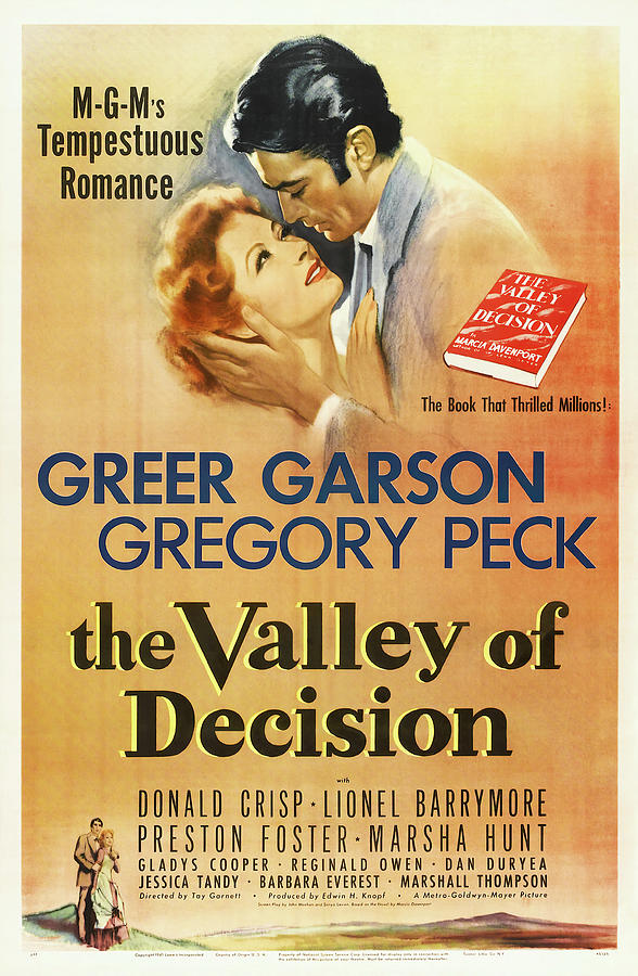 the Valley Of Decision, With Greer Garson And Gregory Peck, 1945 Mixed Media