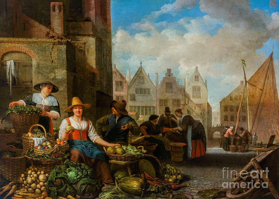 The Vegetable Market Painting