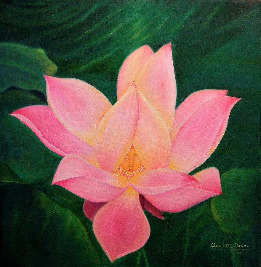 Woman Painting - The Violet Flame by Claudette Dean