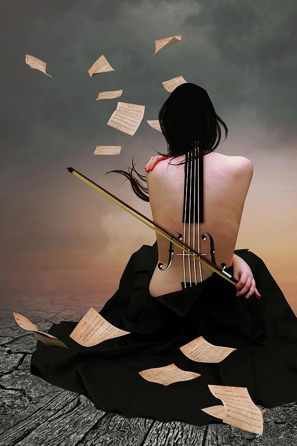 The Violin Woman Digital Art