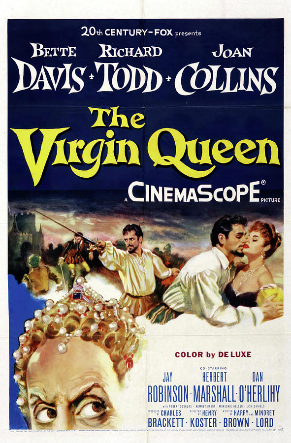 the Virgin Queen 2, With Bette Davis And Richard Todd, 1955 Mixed Media