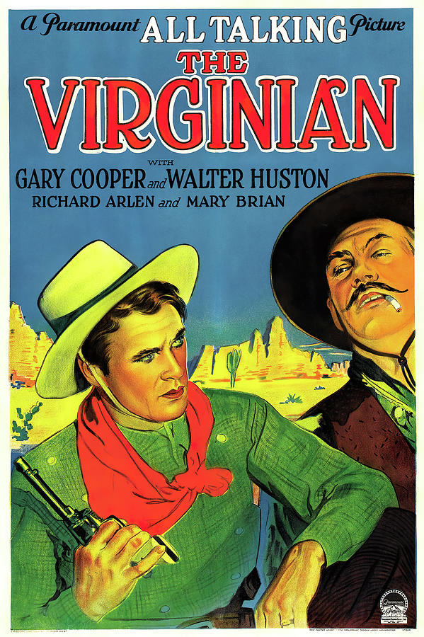 the Virginian, With Gary Cooper And Walter Huston, 1929 Mixed Media