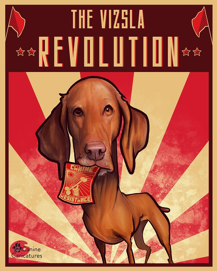The Vizsla Revolution Drawing