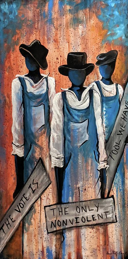 The Vote Painting by Sonja Griffin Evans