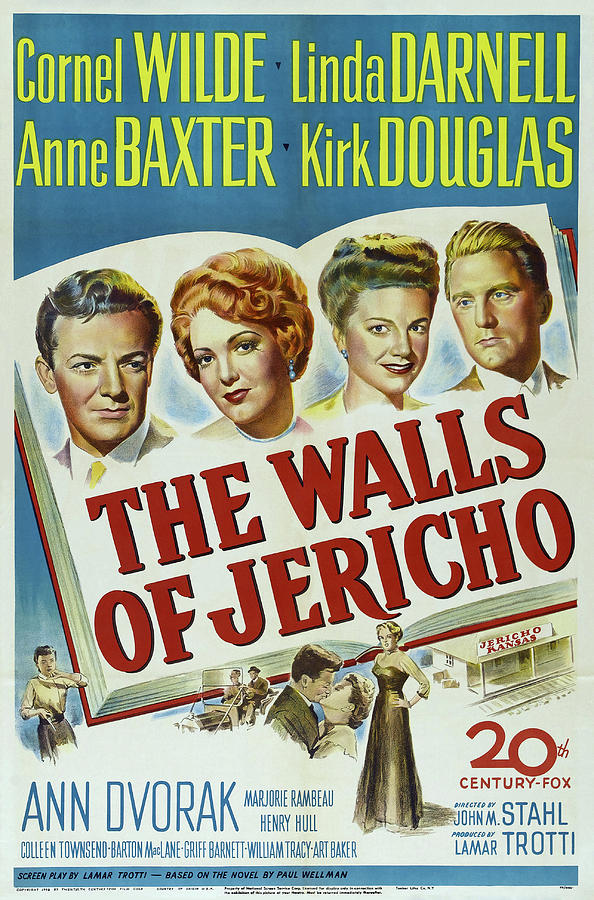 the Walls Of Jericho, With Cornel Wilde And Linda Darnell, 1948 Mixed Media