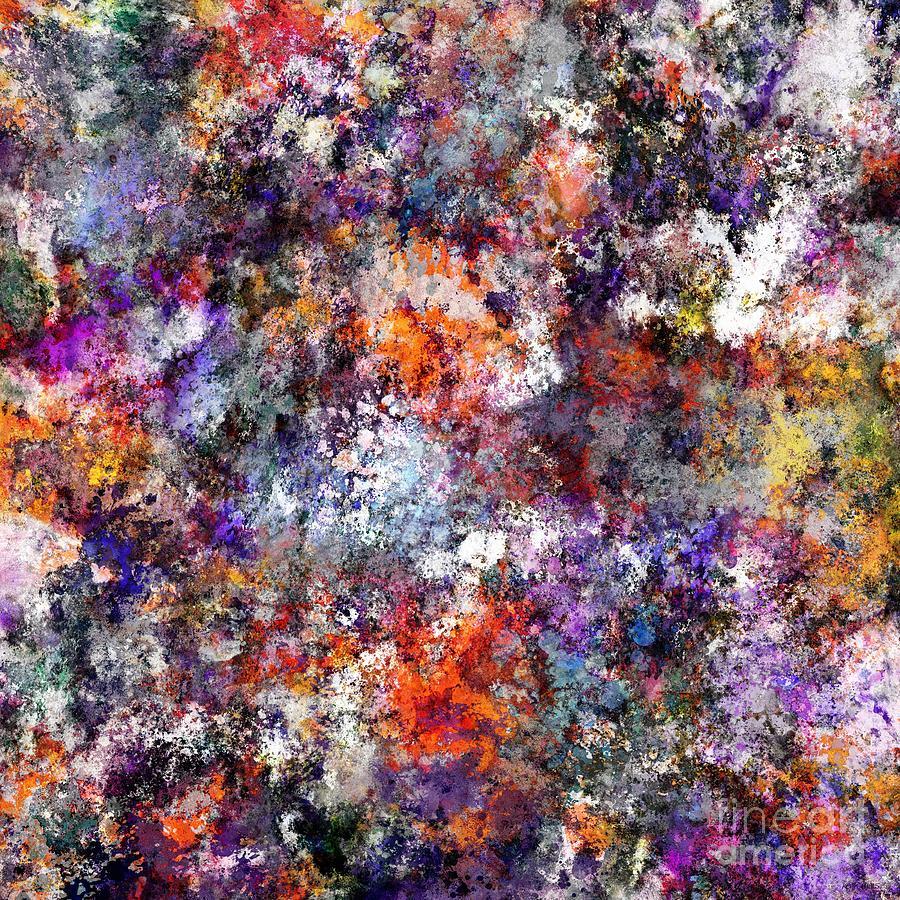 Splash Digital Art - The Warm Cinders by Keith Mills