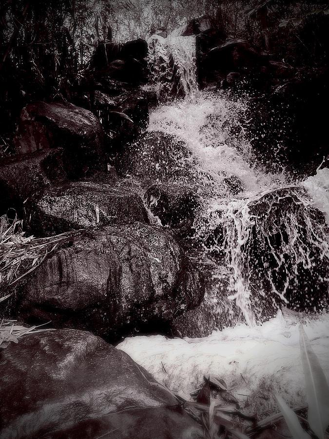 The waterfall splashing , Thailand tourism Photograph by Natthapol Bussai