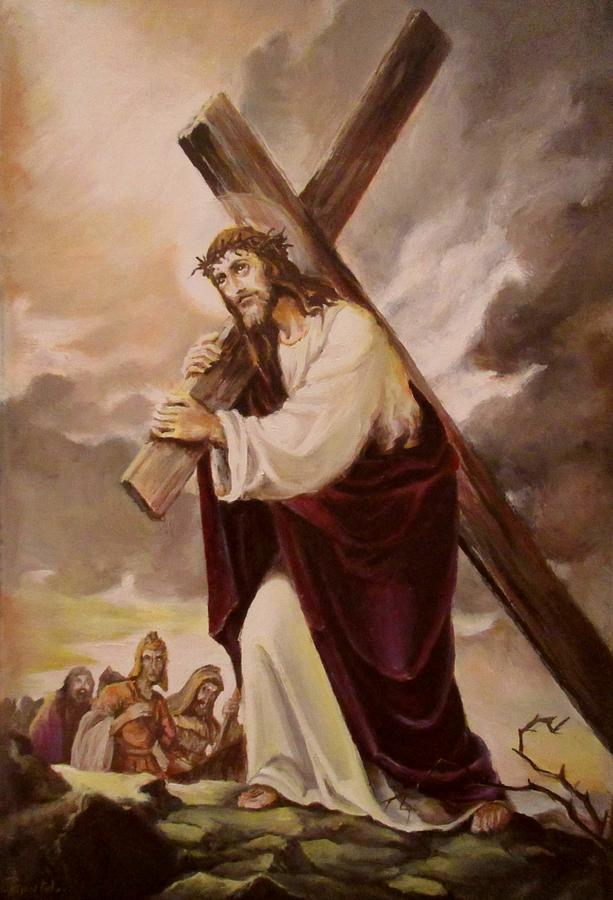The Way Of The Cross Painting
