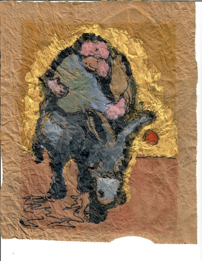 Jesus Painting - The Weight of the Word #7 by Daniel Bonnell