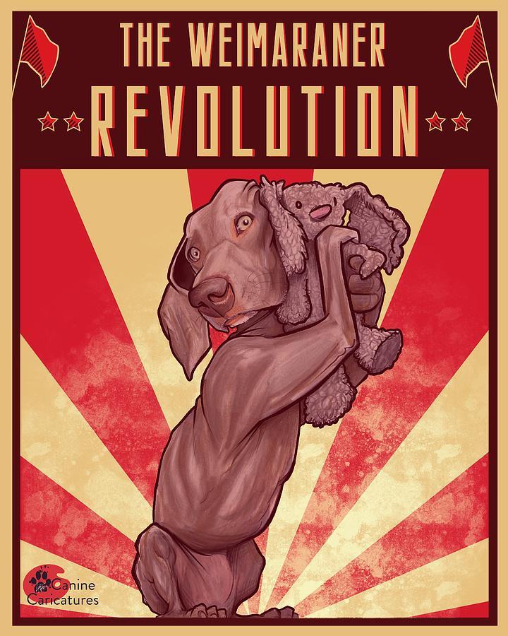 The Weimaraner Revolution Drawing