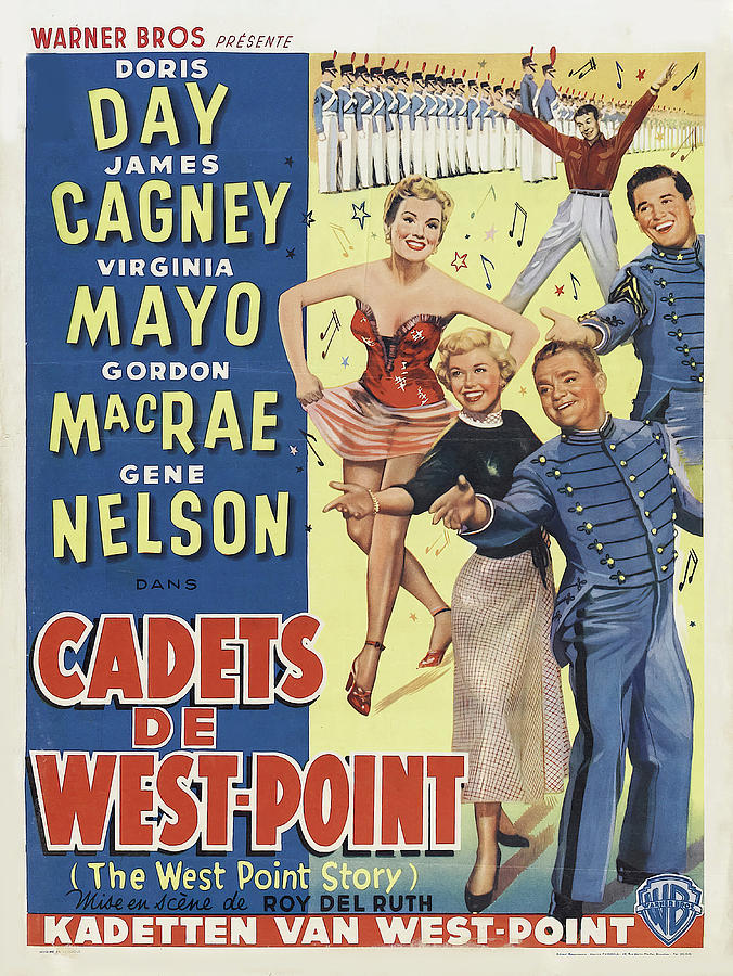 the West Point Story, With Doris Day And James Cagney, 1950 Mixed Media