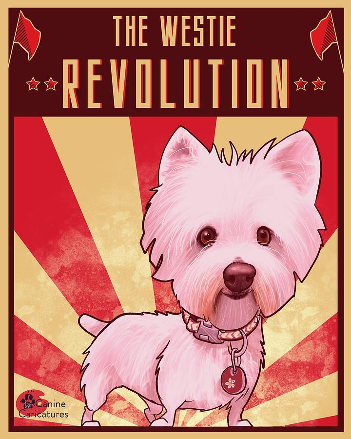 The Westie Revolution Drawing