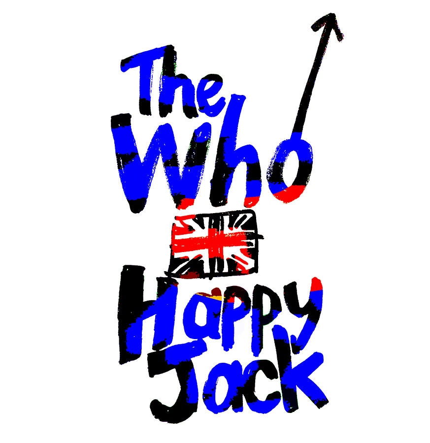 The Who 1966 Happy Jack Drawing