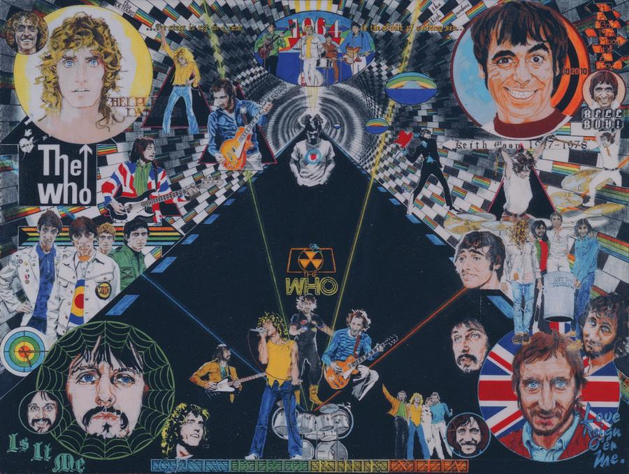 Montage Drawing - The Who - Quadrophenia by Sean Connolly