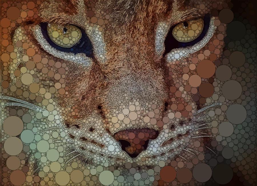 Brown Digital Art - The Wild Cat by Dahl Winters