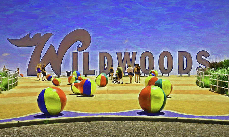 The Wildwoods Sign 3 - Photopainting Photograph