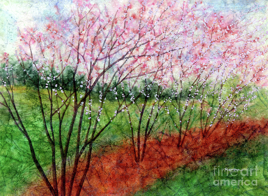 The Wind Blows-pastel Colors Painting