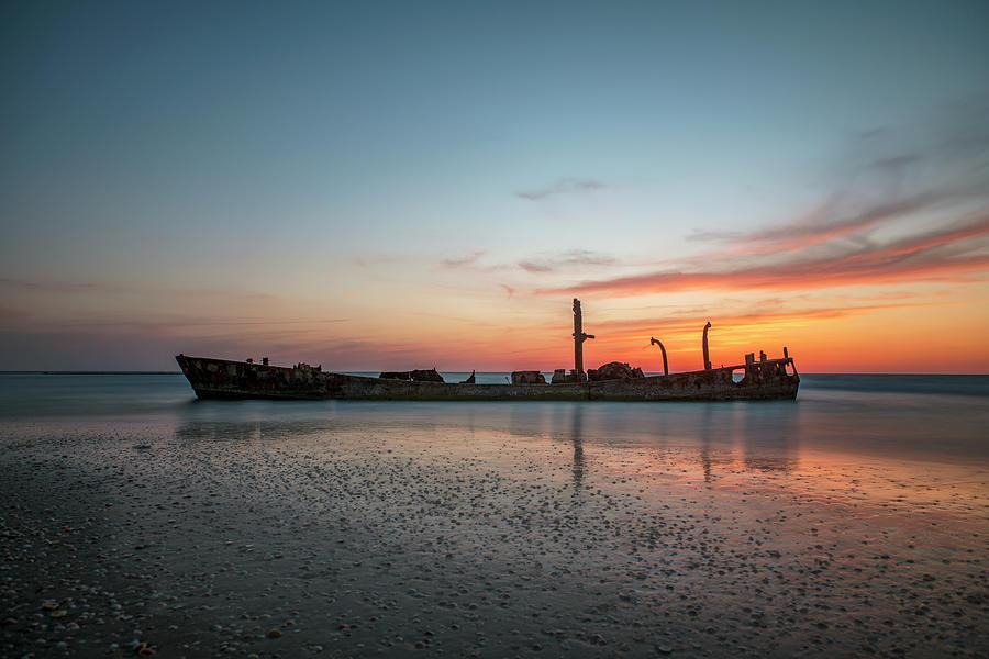 The Wrecked Ship At Habonim Beach 2 Photograph