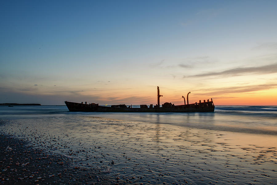 The Wrecked Ship At Habonim Beach 3 Photograph