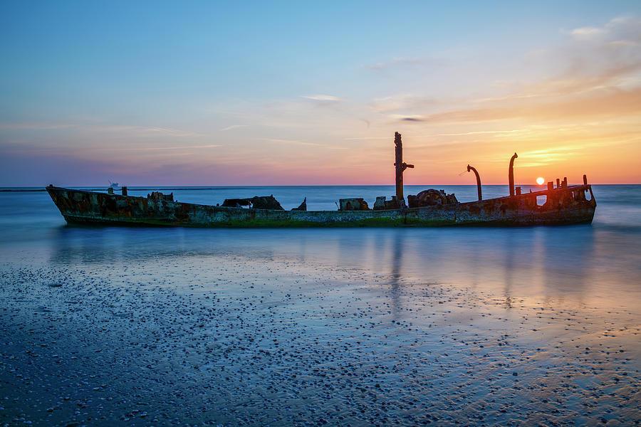 The Wrecked Ship At Habonim Beach 1 Photograph