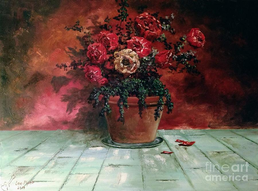 Still Life Painting - The Yellow Rose by Lee Piper