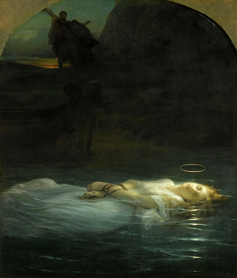 Paul Delaroche Painting - The Young Martyr, 1855 by Paul Delaroche