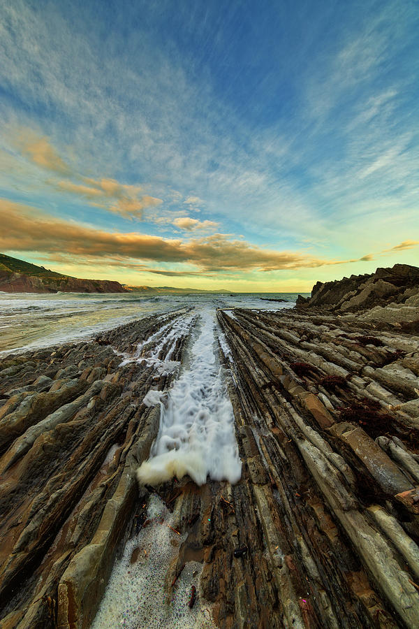 The Zumaia flich at sunset, Basque Country by Vicen Photography
